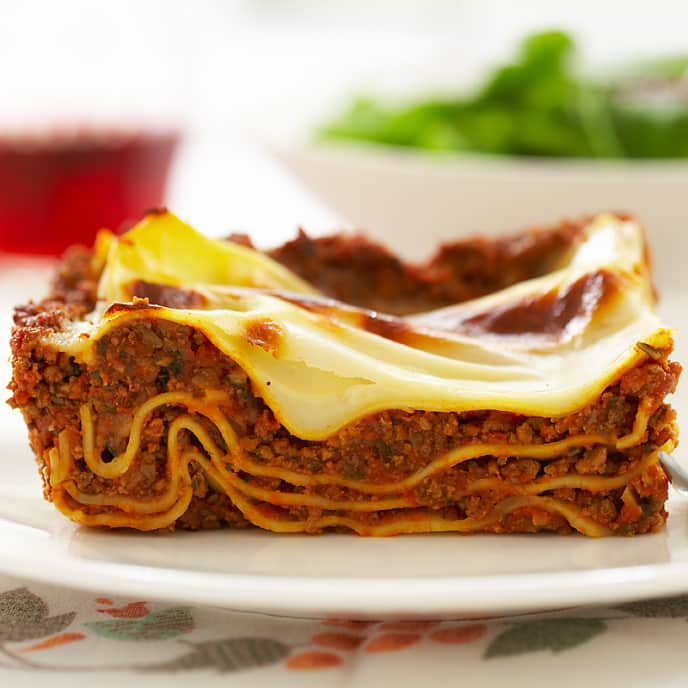 Low-Fat Meaty Lasagna