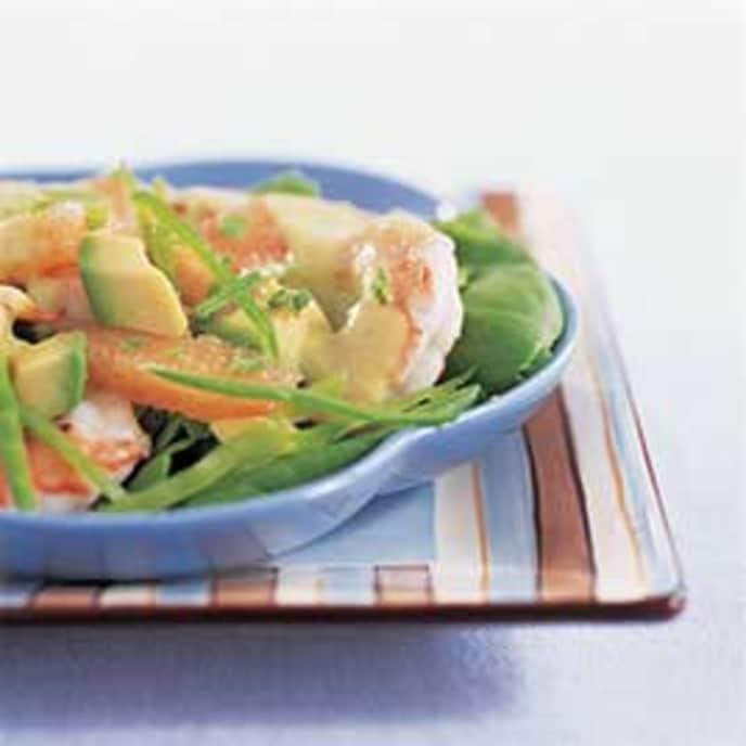 Shrimp Salad with Avocado and Grapefruit