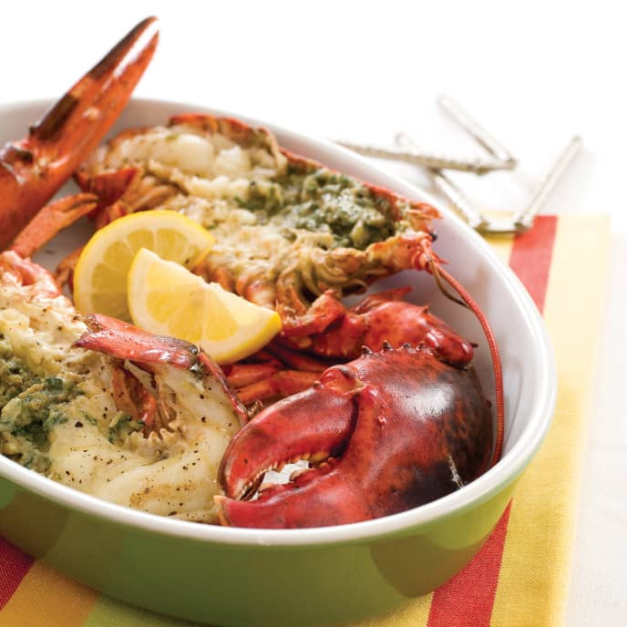 Gas-Grilled Lobsters