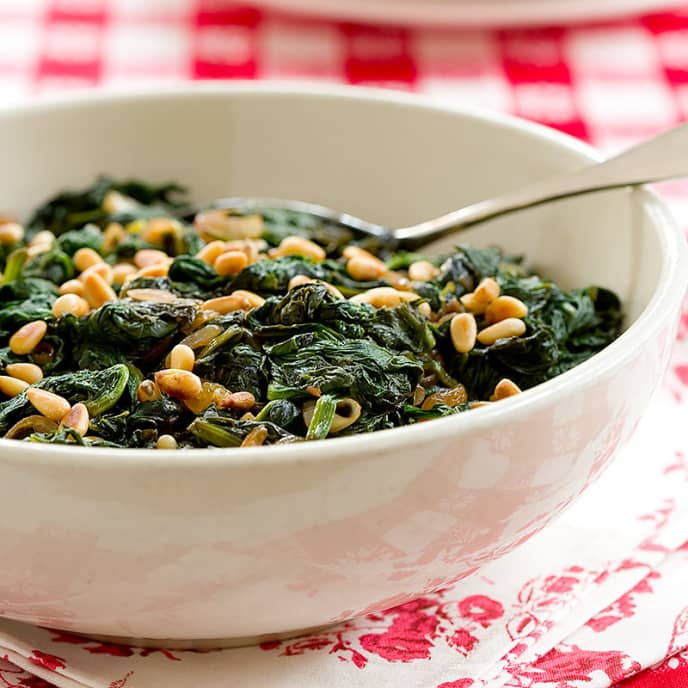Italian Spinach with Raisins and Pine Nuts