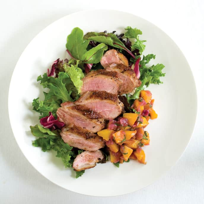 Charcoal-Grilled Duck Breasts