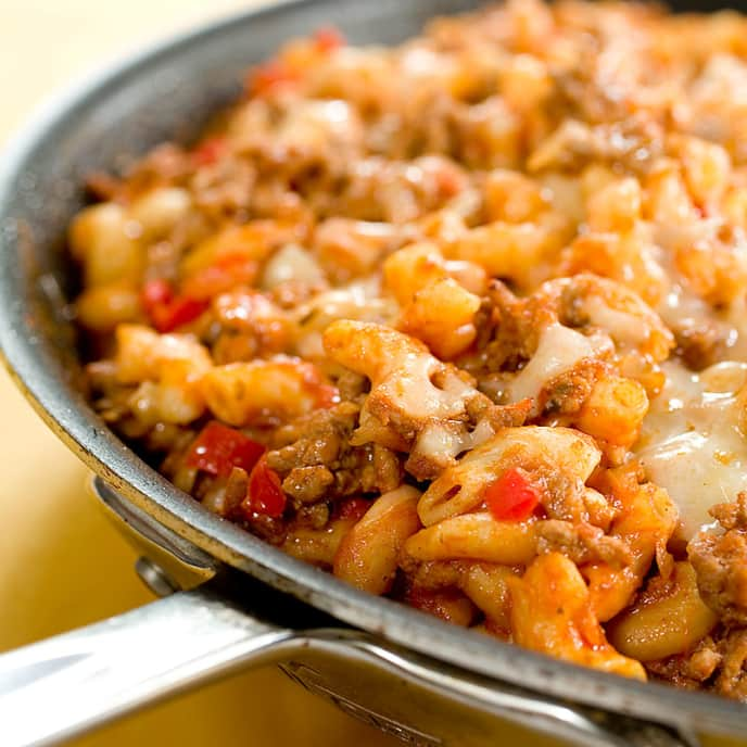 Skillet Macaroni and Beef