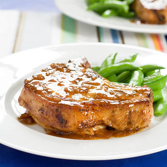 Pork Chops with Orange-Ginger Glaze