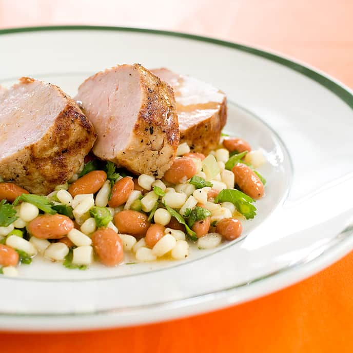 Grilled Pork Tenderloin with Corn Salad