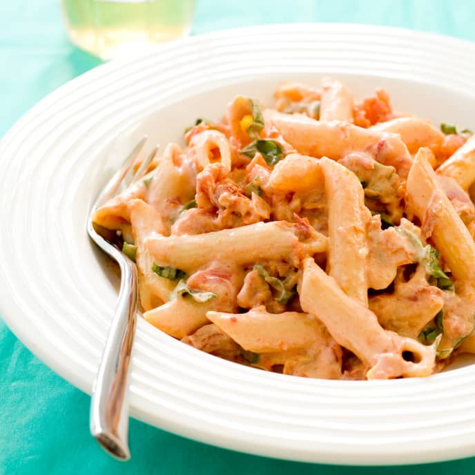Penne with Sun-Dried Tomato Cream Sauce