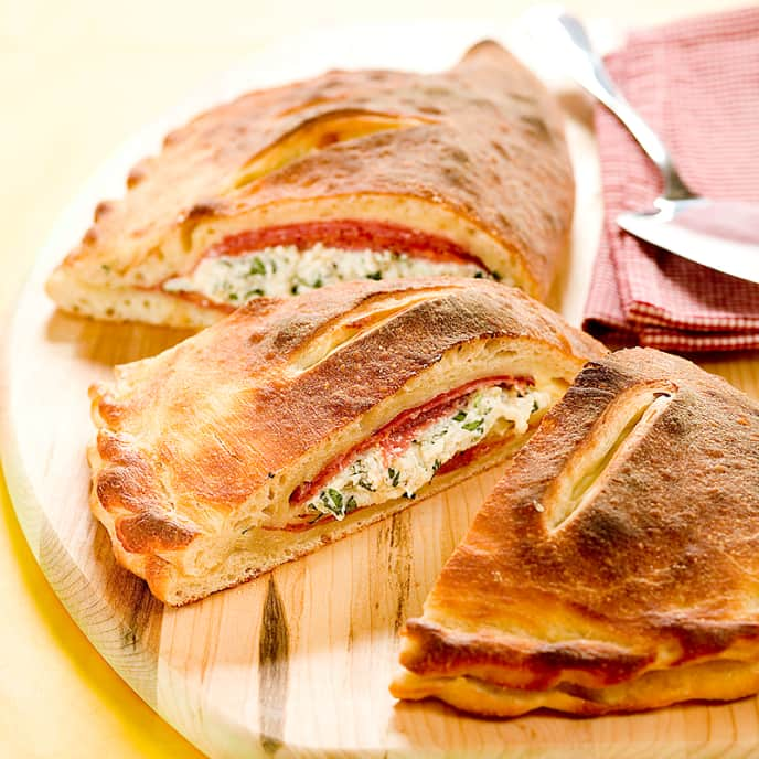 Three-Meat Calzone