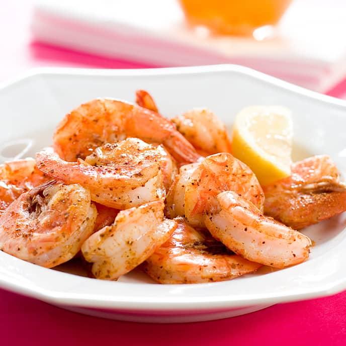 Beer-Steamed Shrimp with Garlic Butter