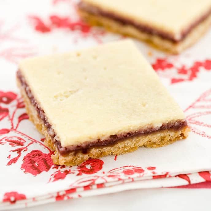 Raspberry-Almond Cheesecake Bars