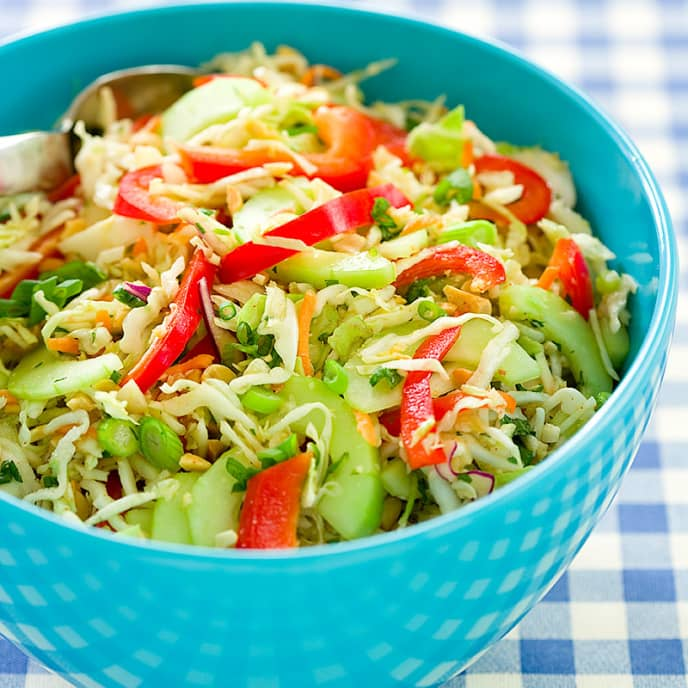 Sweet and Spicy Cabbage Slaw