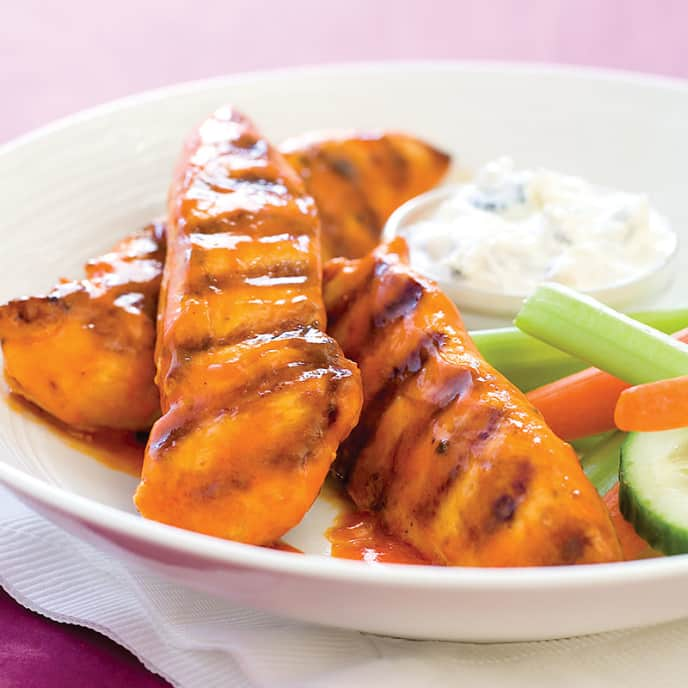 Grilled Buffalo Chicken Strips