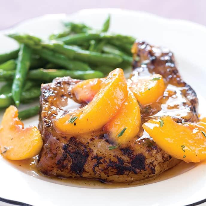 Peach-Glazed Grilled Pork Chops