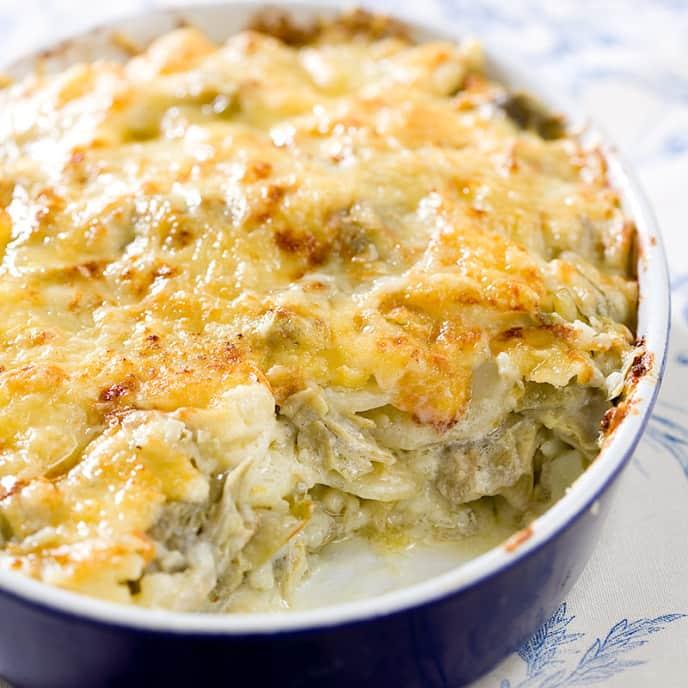 Artichoke-Potato Gratin