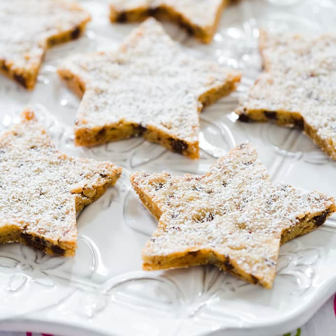 Pecan Toffee Shortbread Stars