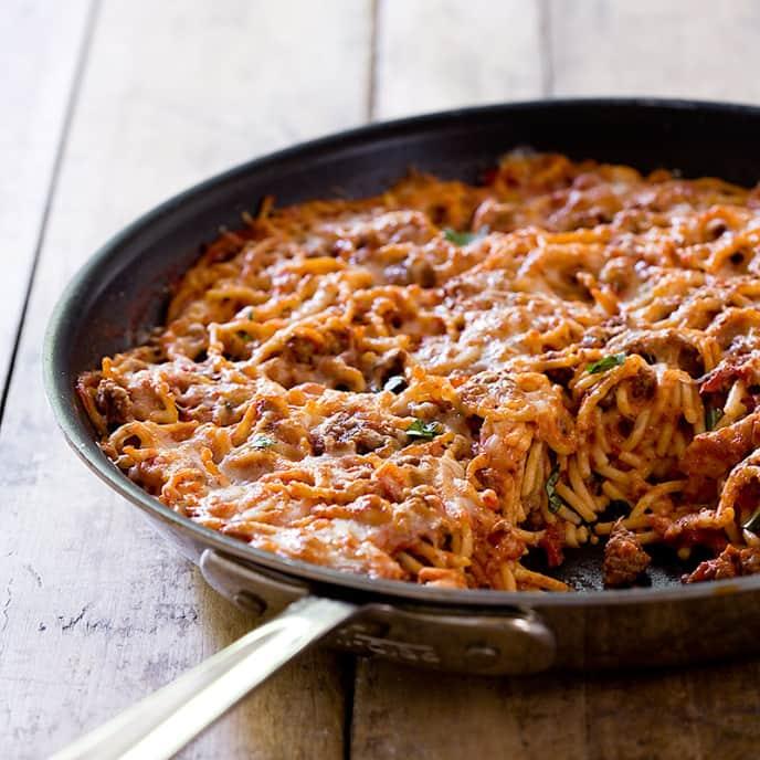 Skillet-Baked Spaghetti