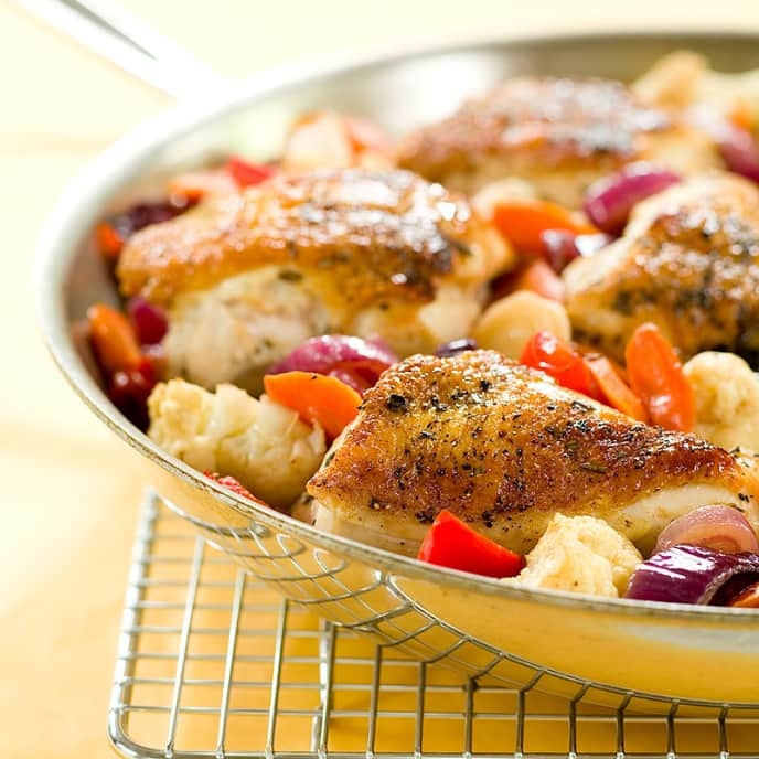 Rosemary Chicken with Balsamic Vegetables
