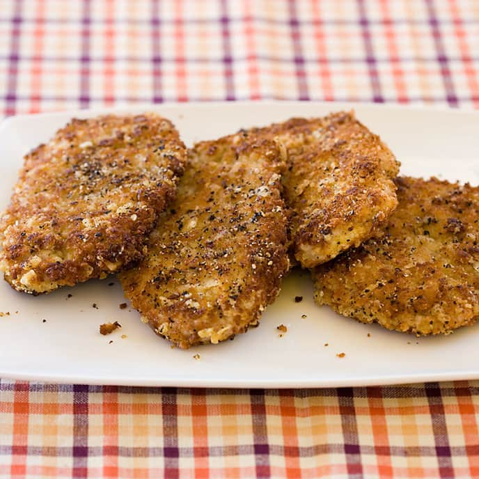 Crispy Parmesan-Pepper Pork Cutlets