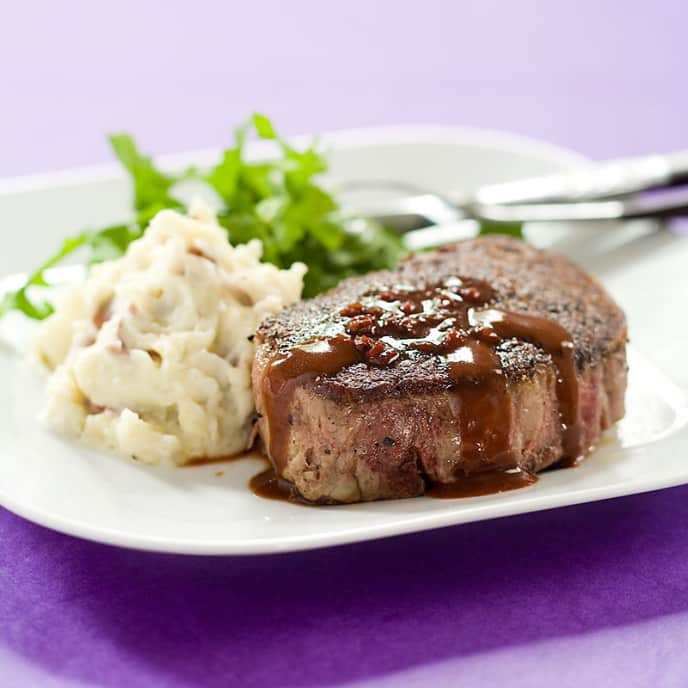 Pan-Seared Beef Tenderloin with Port Wine Sauce