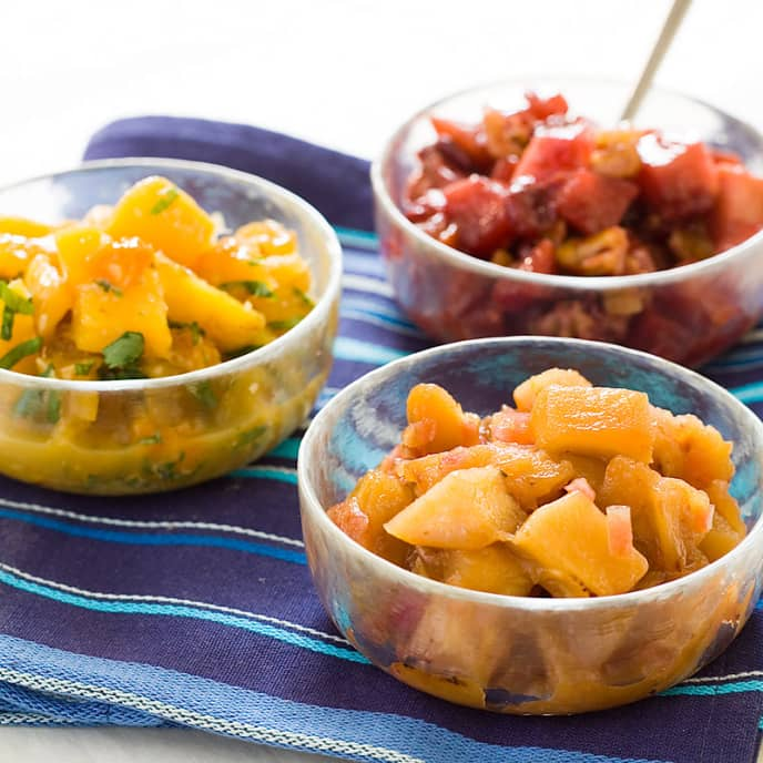 Mango-Peach Chutney