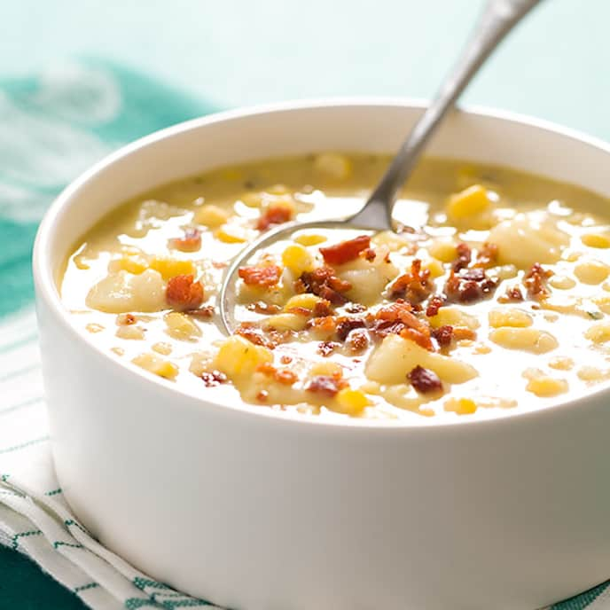 Quick Corn Chowder with Bacon
