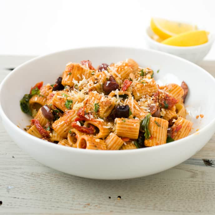 Pasta with Olives, Garlic, and Herbs