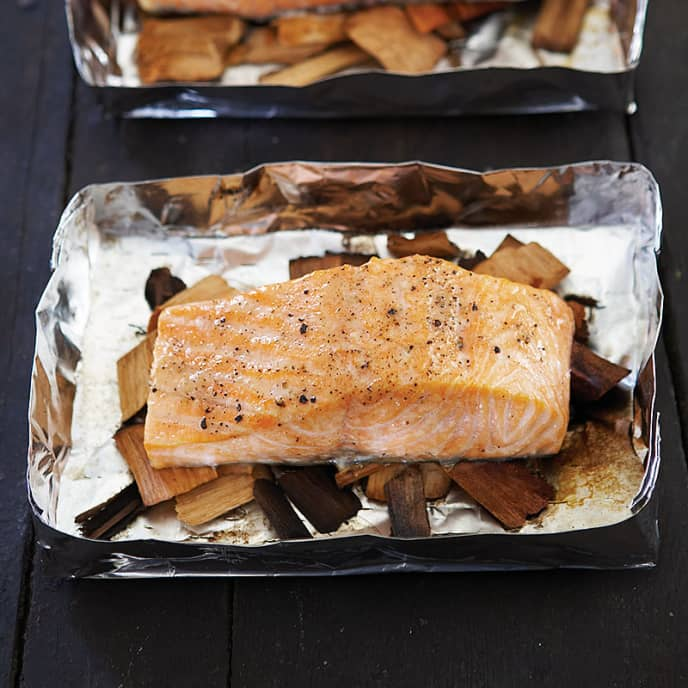 BBQ Wood-Grilled Salmon