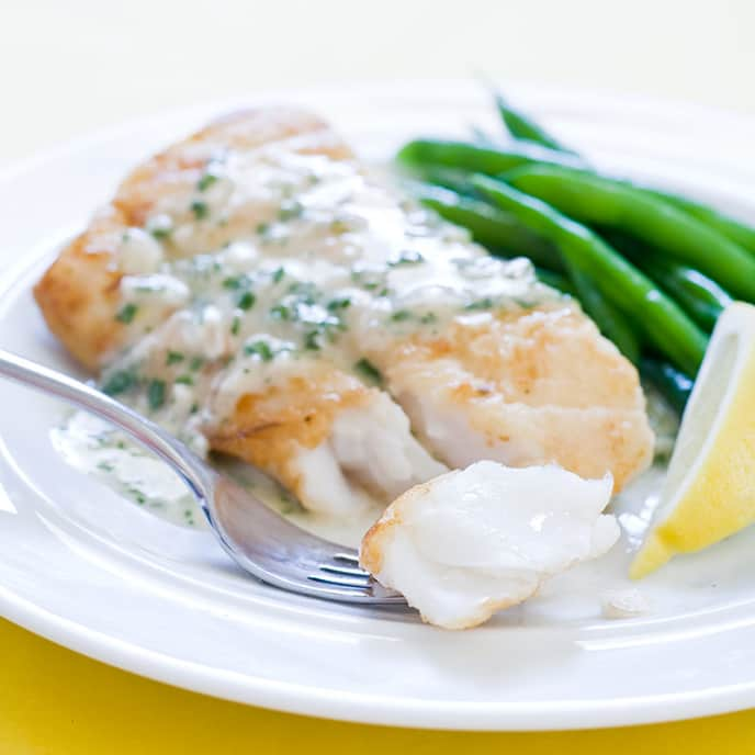 Pan-Seared Cod with Herb Butter Sauce