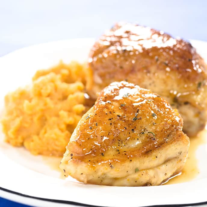 Maple-Orange Glazed Chicken