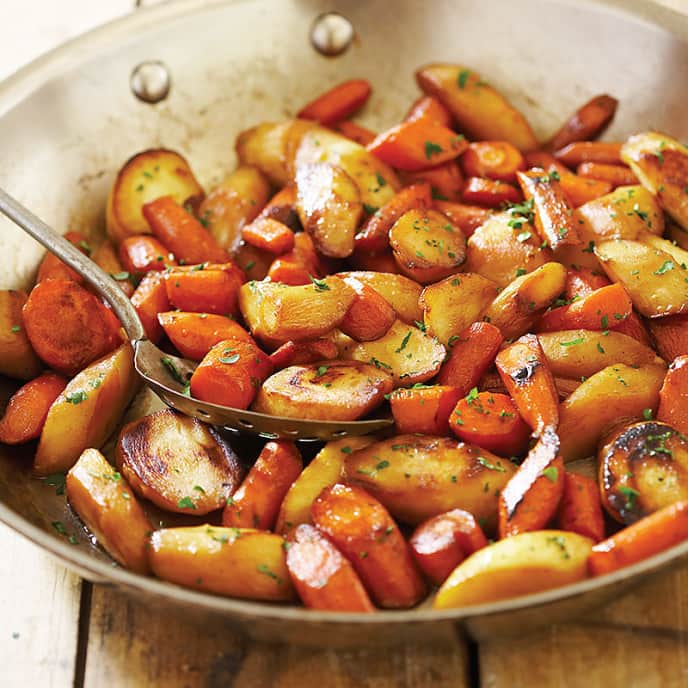 Cilantro-Lime Skillet-Roasted Carrots and Parsnips