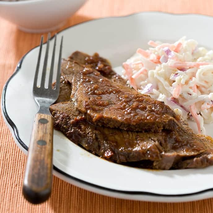 Slow-Cooker BBQ Beef Brisket