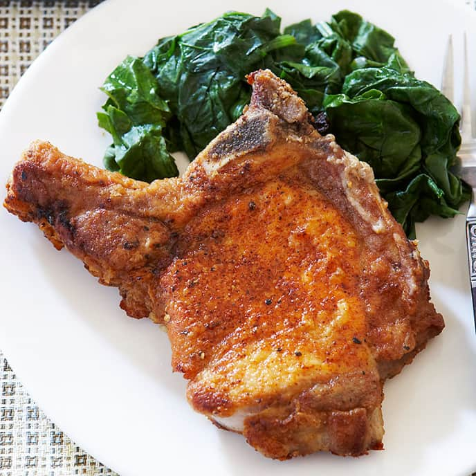 BBQ Pan-Fried Pork Chops