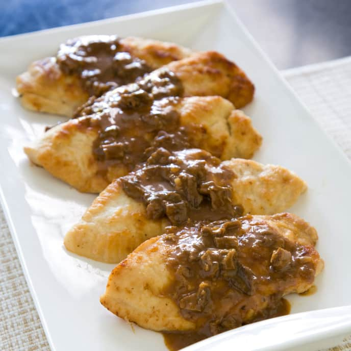 Sauteed Chicken Cutlets with Porcini Sauce