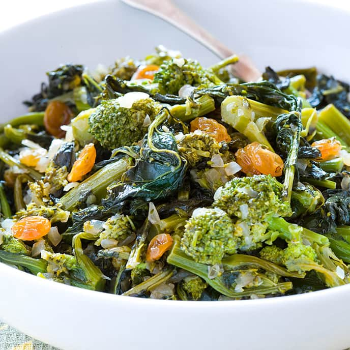 Italian Sweet and Sour Broccoli Rabe