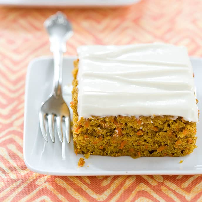 Reduced-Fat Carrot Cake with Cream Cheese Frosting