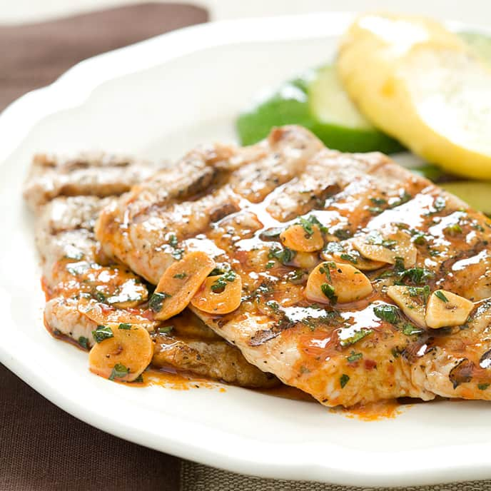 Portuguese-Style Grilled Pork Cutlets