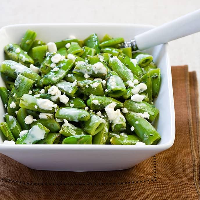 Minty Sugar Snap Pea Salad