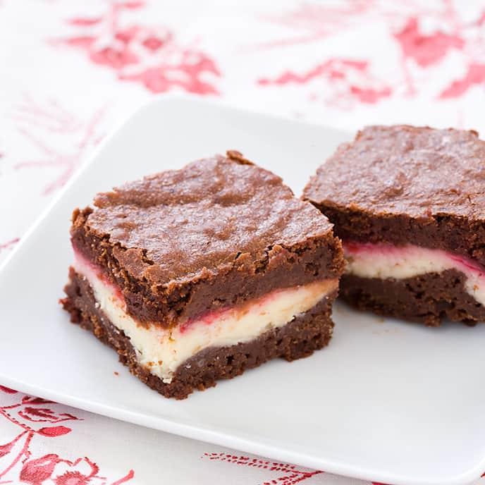 Raspberry Cream Cheese Brownies