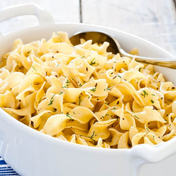 Egg Noodles with Caraway and Brown Butter