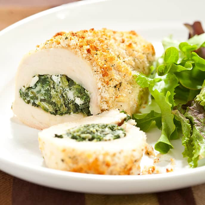 Spinach- and Tarragon-Stuffed Chicken Breasts