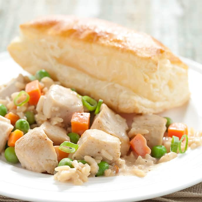Chicken and Rice Pot Pie