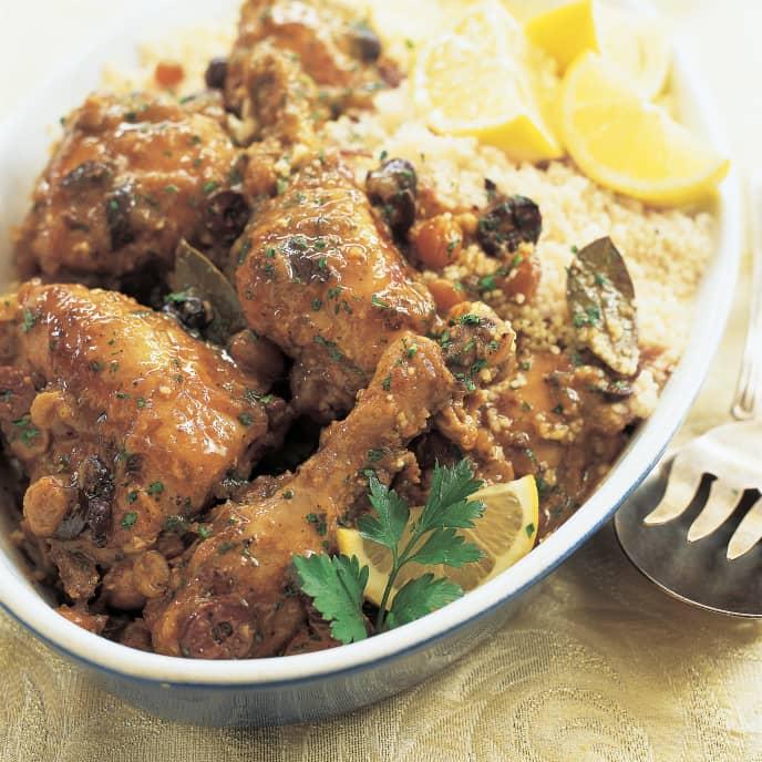 Moroccan Chicken Tagine with Olives and Lemon (Djej Emshmel)
