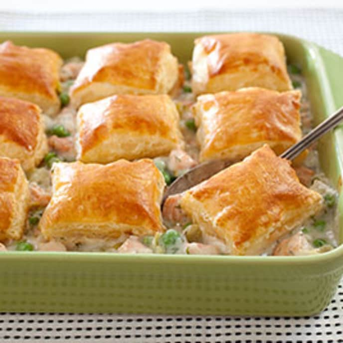 Skillet Salmon and Leek Pot Pie