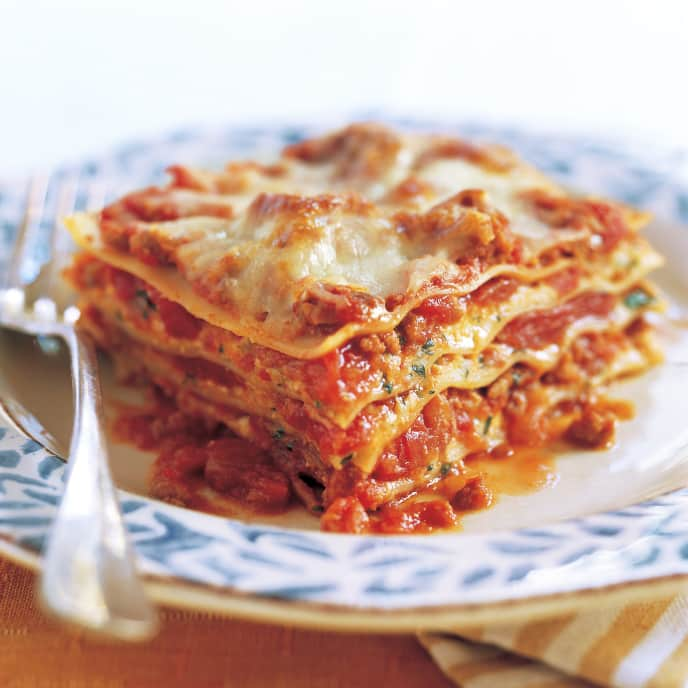 Light Meat and Cheese Lasagna