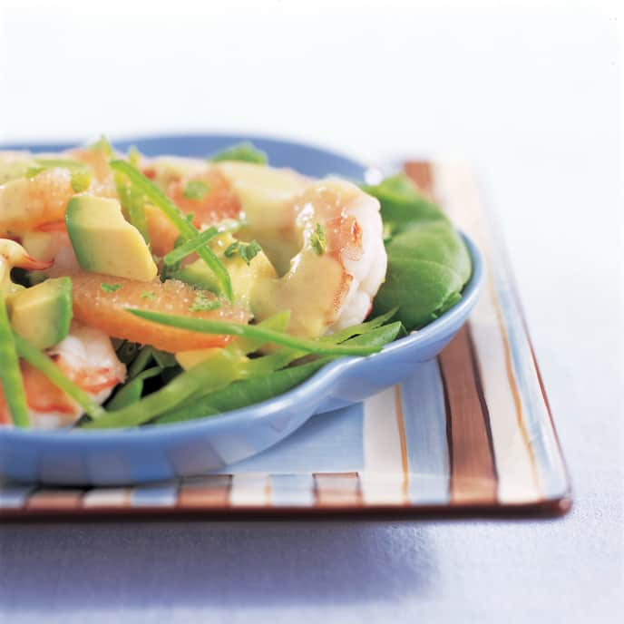 Light Shrimp Salad with Avocado and Grapefruit