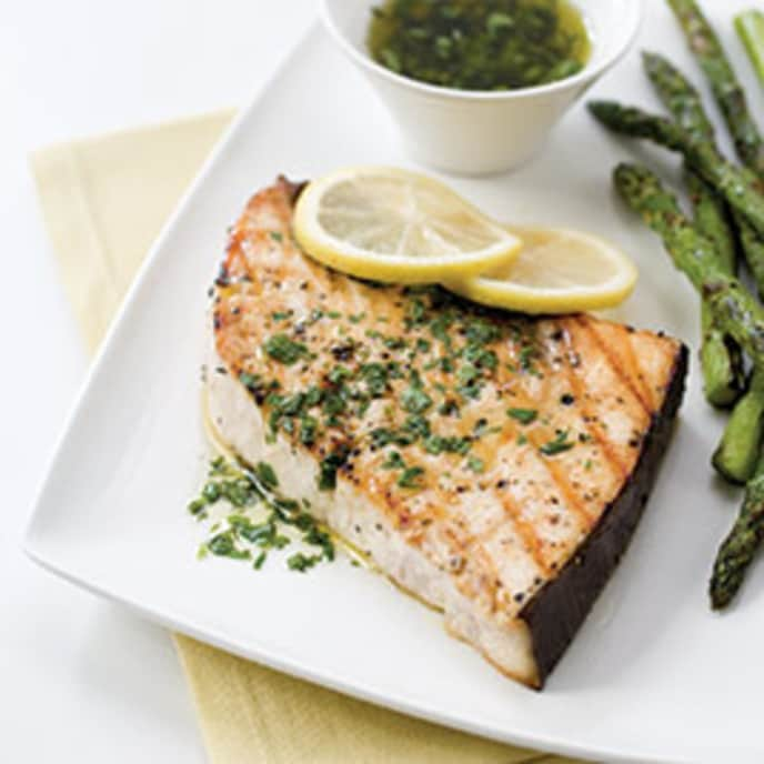 Grilled Swordfish Steaks with Chermoula