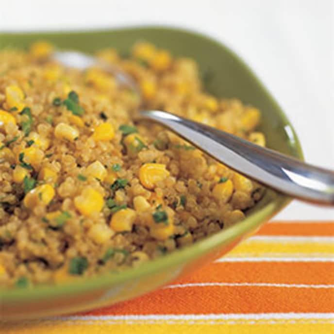Light Quinoa Pilaf with Corn and Jalapeños