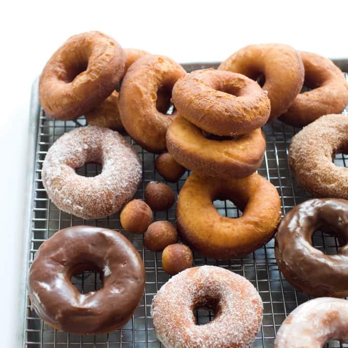 Vanilla-Glazed Doughnuts