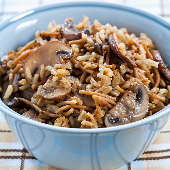 Rice Pilaf with Vermicelli and Mushrooms
