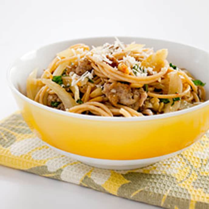 Whole-Wheat Spaghetti with Italian Sausage and Fennel