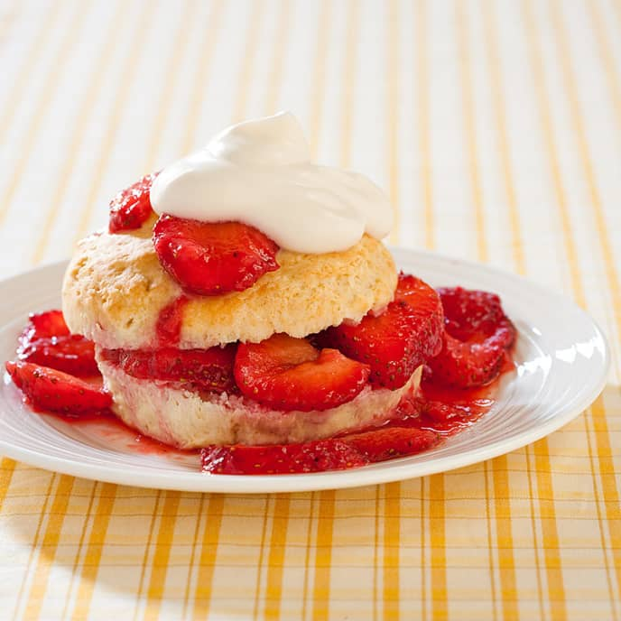 Reduced-Fat Strawberry Shortcakes