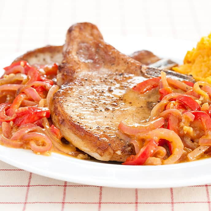 Thin-Cut Cuban-Style Pork Chops